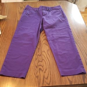 Cropped Purple BR dress pants
